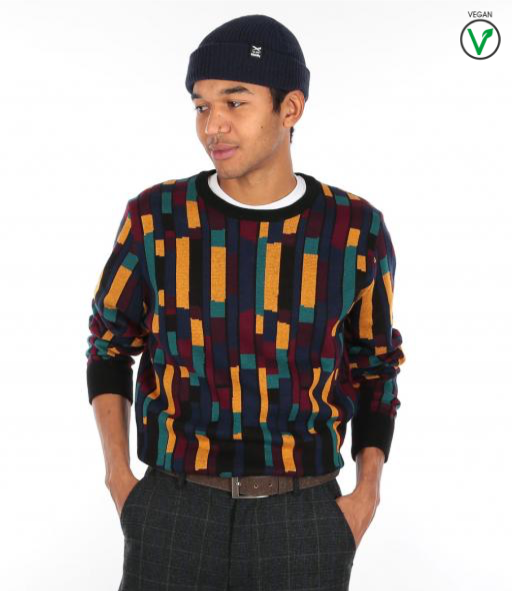 Patcheo Knit Navy Red-3