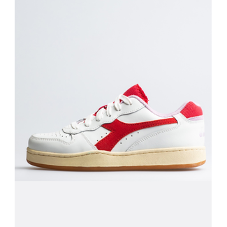 Diadora Mi Basket Low Used Poinsettia