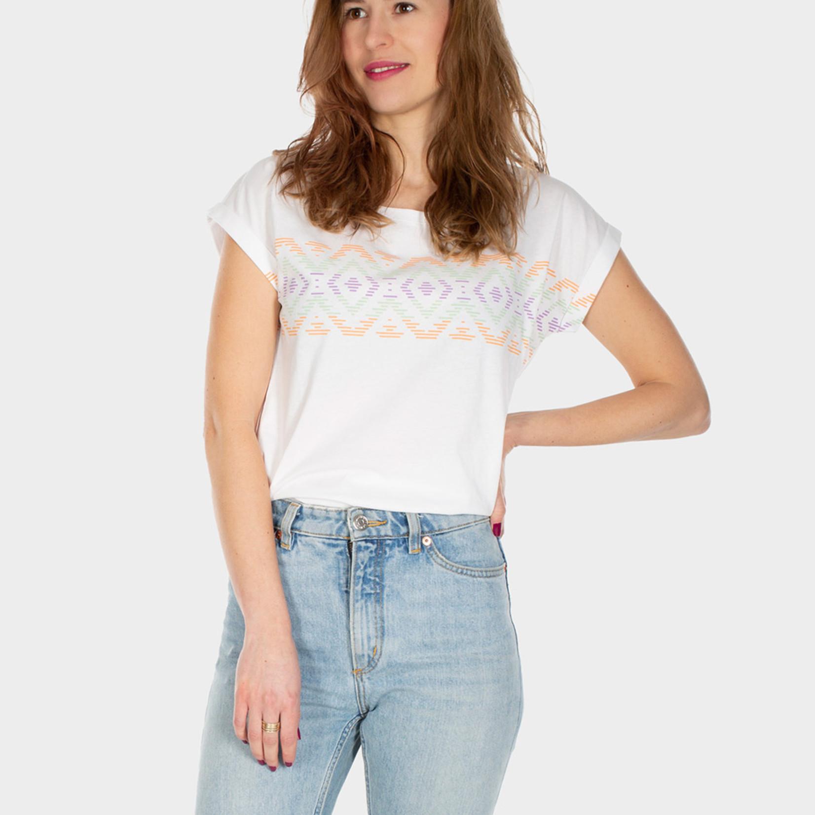 Iriedaily Lettie Stripe Tee - White