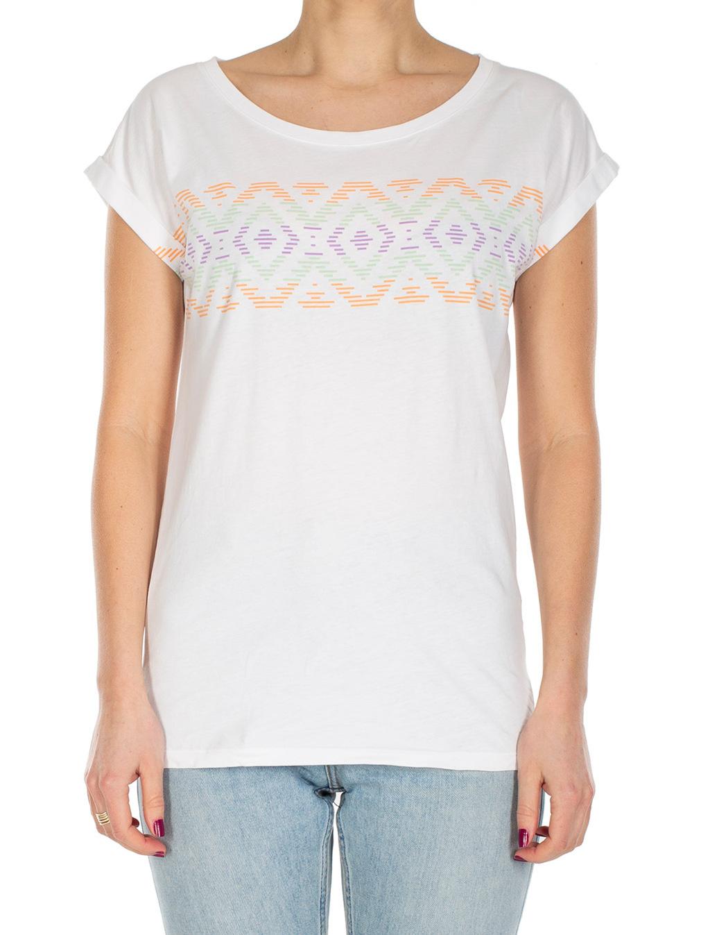 Lettie Stripe Tee - White-2