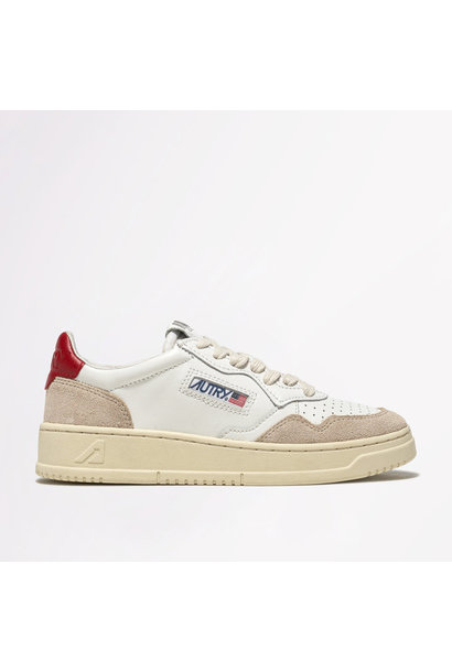 Low Leat/Suede Wht/Red