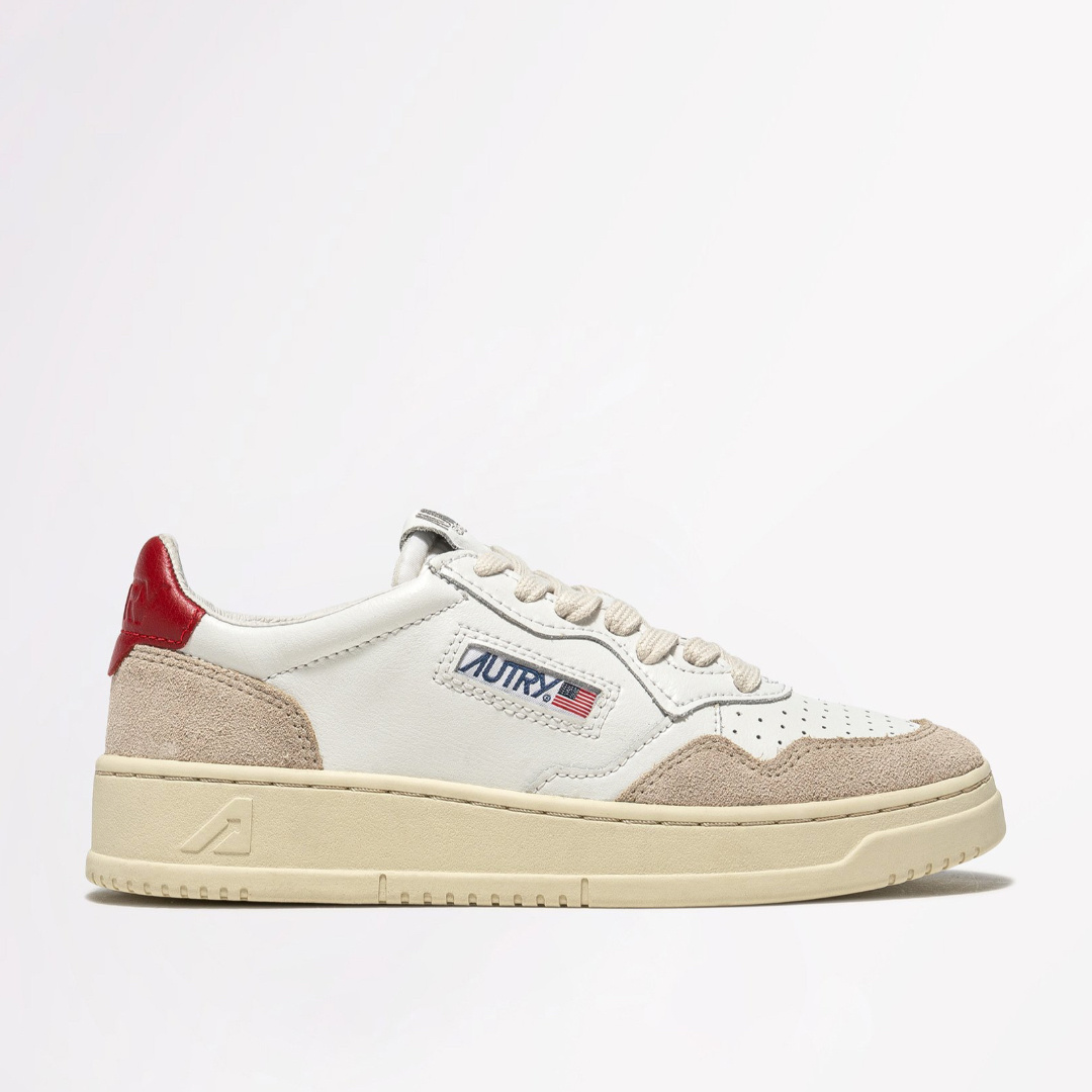 Low Leat/Suede Wht/Red-1