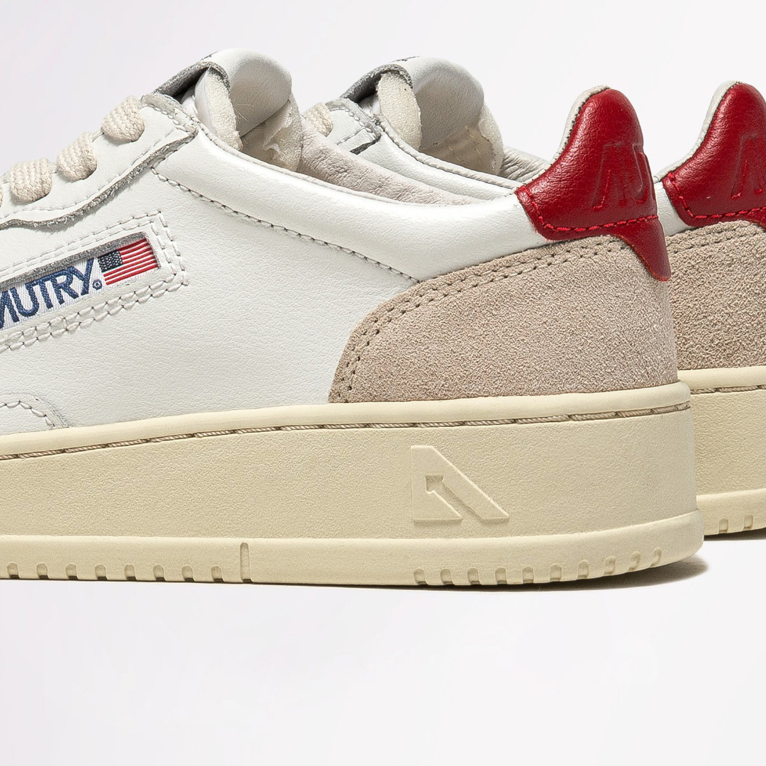 Low Leat/Suede Wht/Red-2