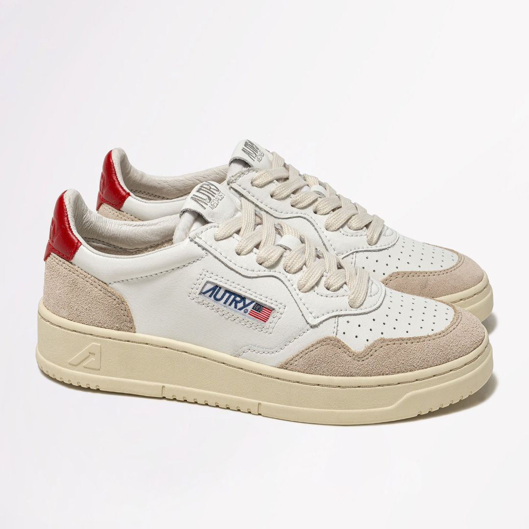 Low Leat/Suede Wht/Red-3