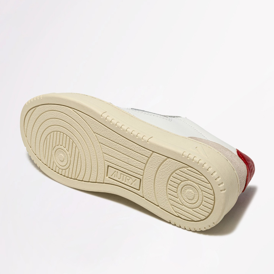 Low Leat/Suede Wht/Red-4