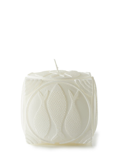 Rivièra Maison Rivièra Maison Happy Fish Square Candle white