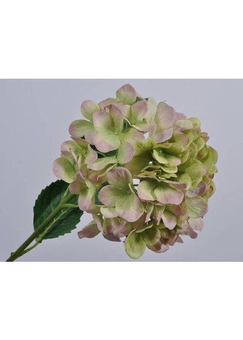 Silk-ka Silk-Ka Hortensia Tak Roze Groen 74cm