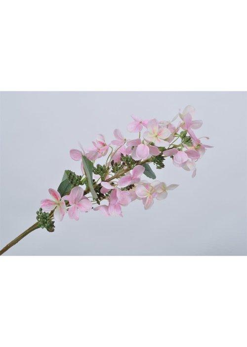Silk-ka Silk-Ka Hortensia Tak Roze Licht 75 cm