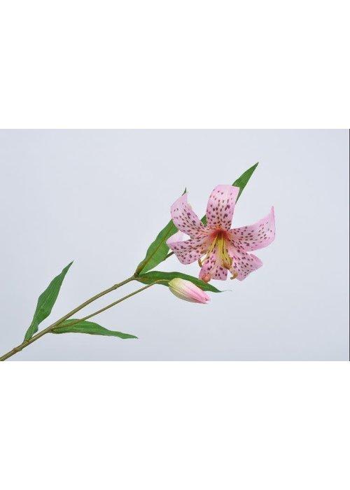 Silk-ka Silk-Ka Lelie Steel Roze 72 cm