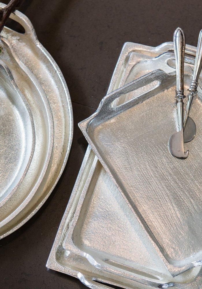 Mars & More dienblad silver look rond 27cm