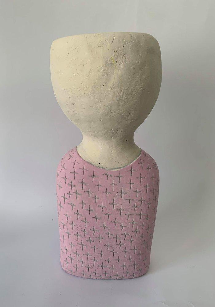 Rasteli Nitwit Pink Cement Figuur