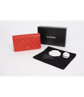 Chanel wallet rood