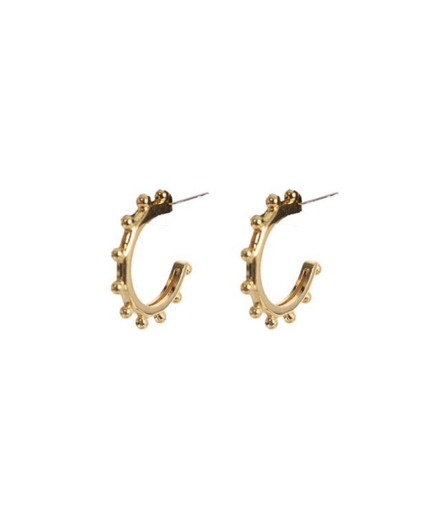 SELECTED BY DIORDIE Gold Edged Earrings