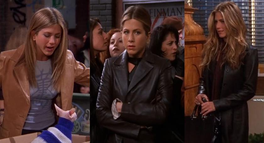 De Rachel Green trend die je deze herfst overal gaat zien; De leren blazer.