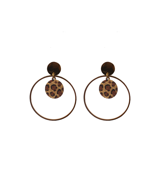 SELECTED BY DIORDIE Leopard affaire earring