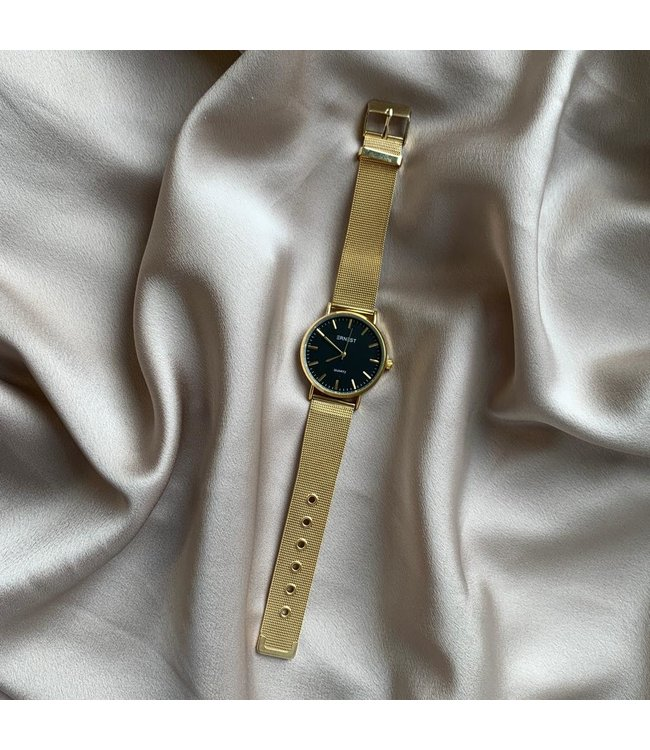 SELECTED BY DIORDIE Oh my watch black and gold