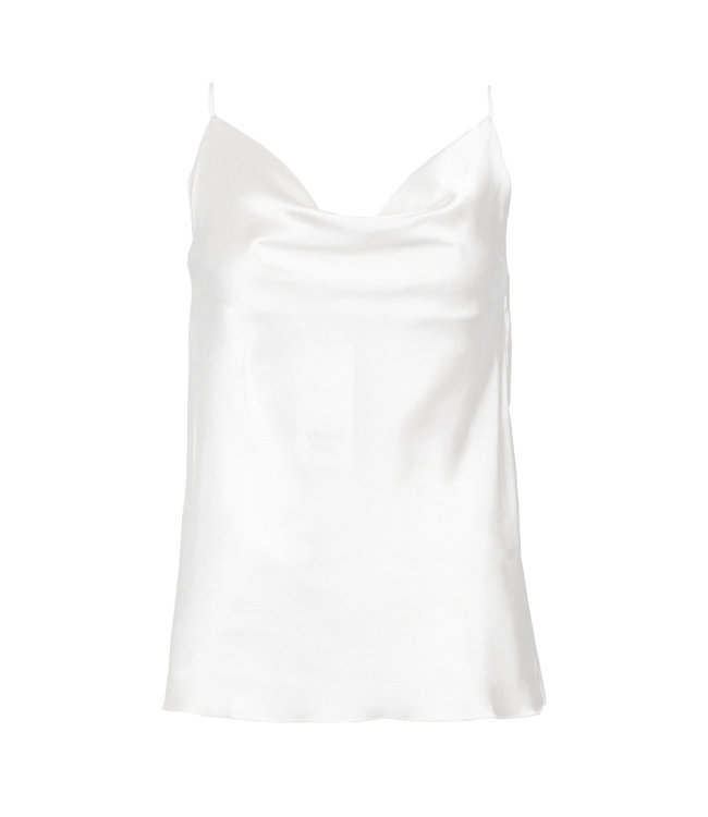 SELECTED BY DIORDIE Silk Basic Top White