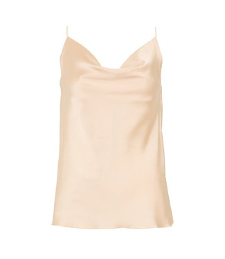 SELECTED BY DIORDIE Silk Basic Top Nude