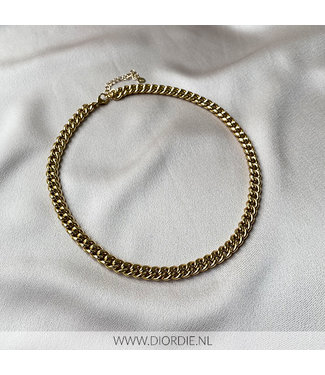 SELECTED BY DIORDIE Chunky gold chain necklace