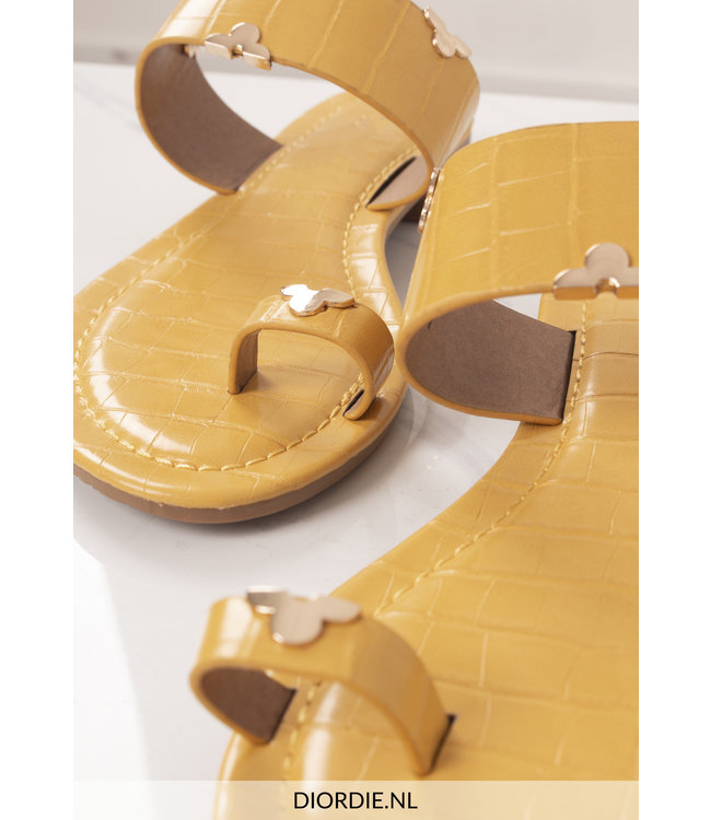 SELECTED BY DIORDIE Cannes Sandal Yellow