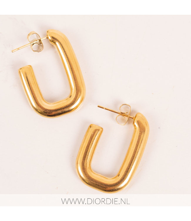 SELECTED BY DIORDIE Square Earring
