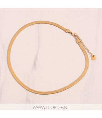 SELECTED BY DIORDIE Macy Flat Chain Gold