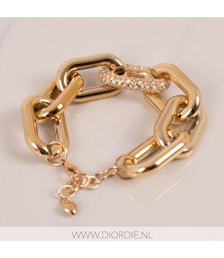 SELECTED BY DIORDIE Chunky Chain Golden Bracelet