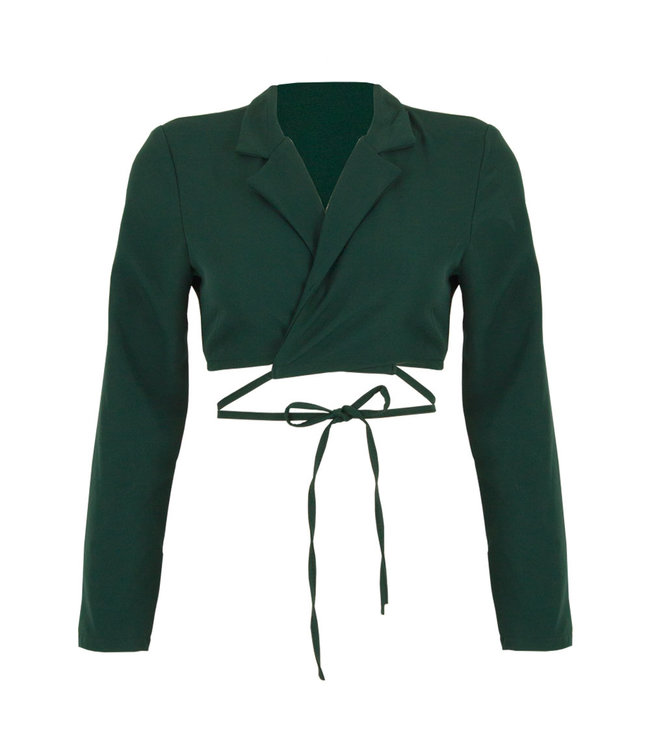 SELECTED BY DIORDIE Cropped Blazer Emerald