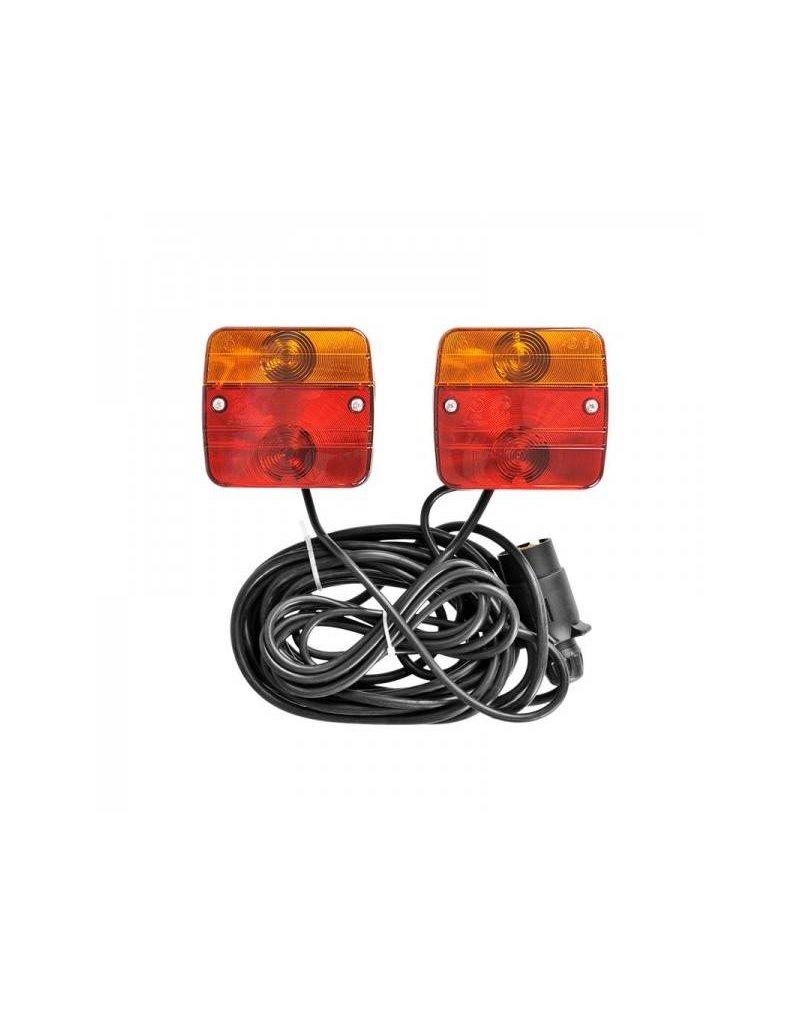 Aanhangerverlichtingsset met magneten 7,5+2,5M kabel