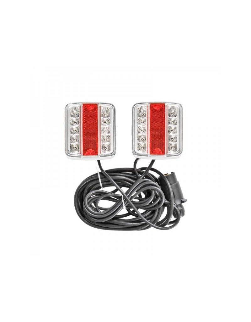 Aanhangerverlichtingsset LED met magneten 7,5+2,5M kabel