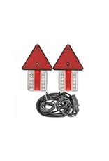 Aanhangerverlichtingsset LED met magneten reflectoren 7,5+2,5M kabel
