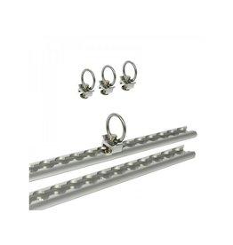 Proplus Bindrails set aluminium 2x60cm 6-delig