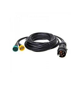Proplus Kabelset 5M met stekker 7-polig en 2x connector 5-polig