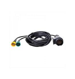 Proplus Kabelset 5M met stekker 13-polig en 2x connector 5-polig