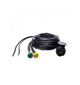 Kabelset 7M met stekker 13-polig en 2x connector 5-polig + 5M DC
