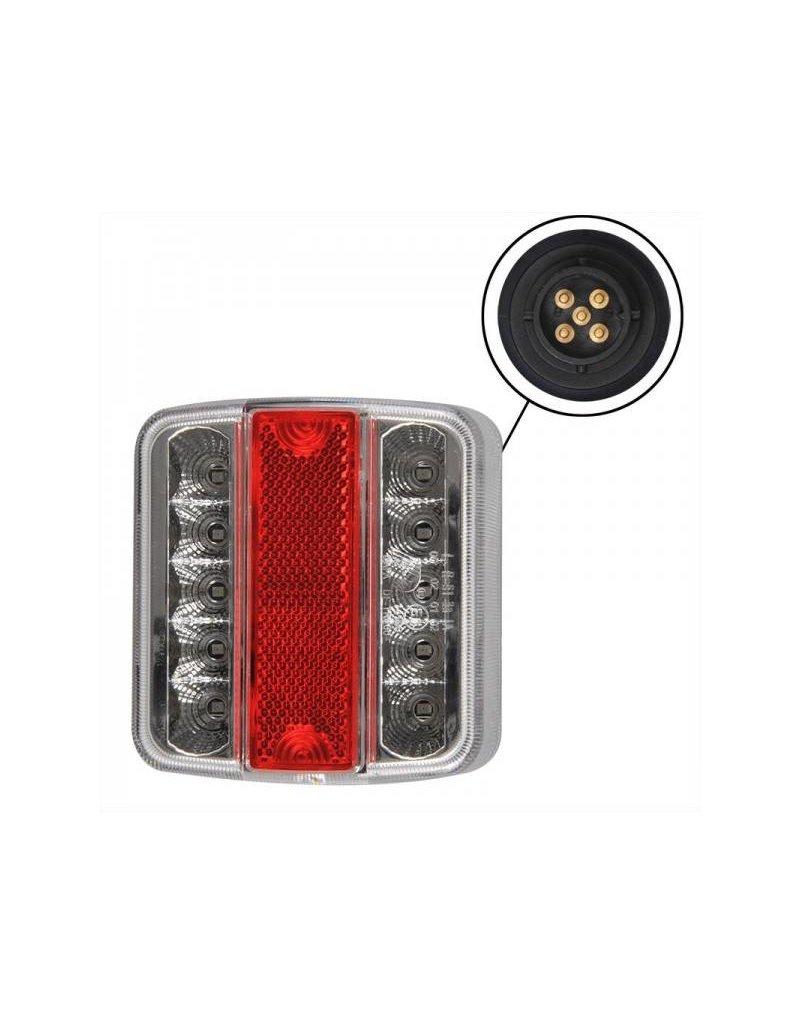 Proplus Achterlicht 4 functies 98x105mm 14LED met 5-pin EC