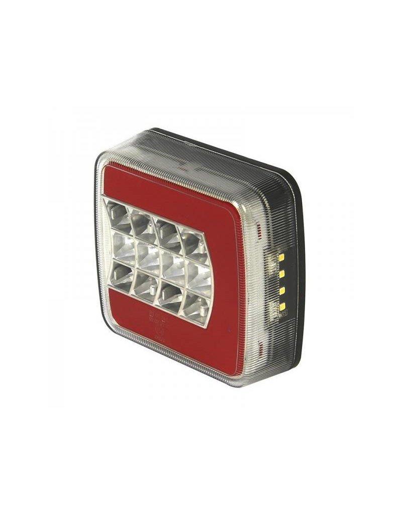 Achterlicht 4 functies 105x98mm LED + GLOW links