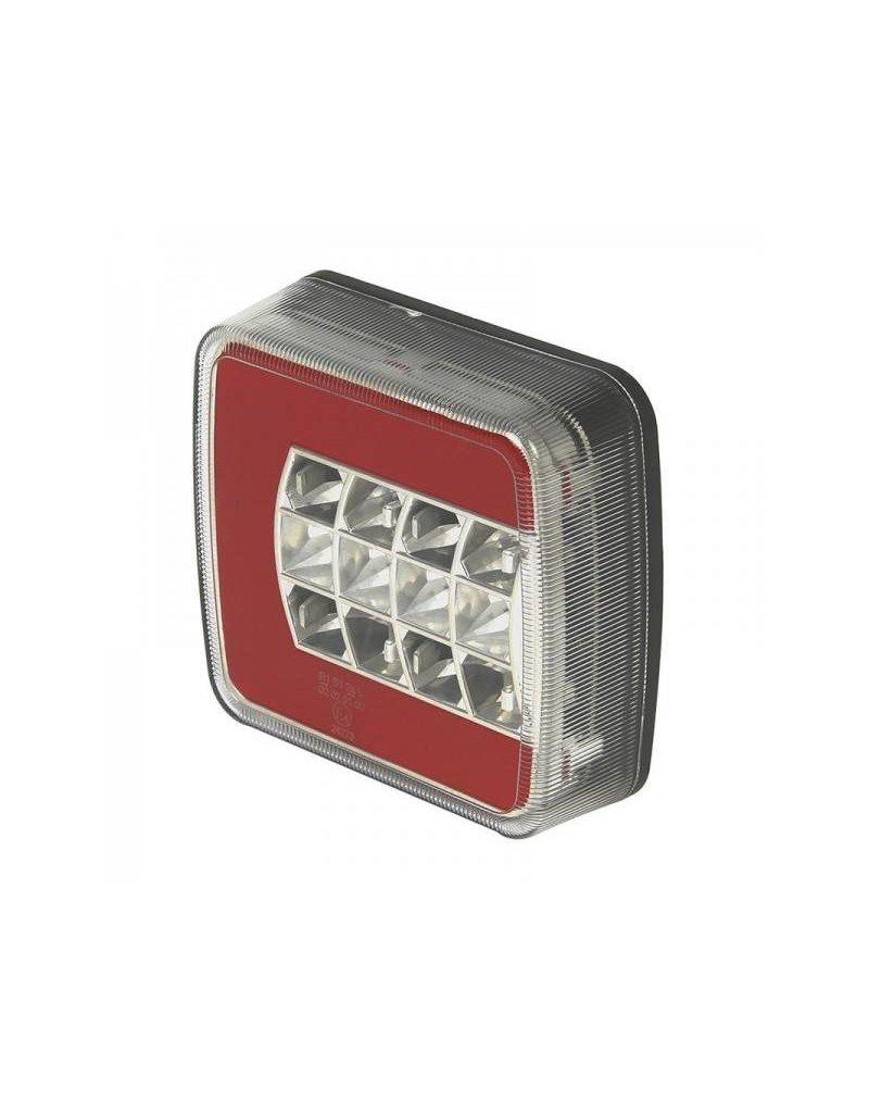 Achterlicht 4 functies 105x98mm LED + GLOW rechts