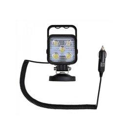Werklamp 5LED op magneet + 3M spiraalkabel met 12V stekker