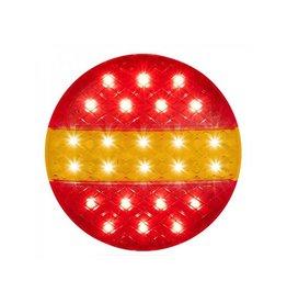 Achterlicht 12/24V 3 functies 140mm STI LED