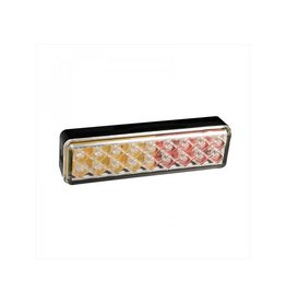 Achterlicht 12/24V 3 functies 135x38mm LED met houder zwart