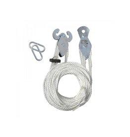 Proplus Handtakel met 20M nylon touw
