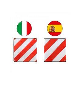 Proplus Markeringsbord aluminium 50x50cm voor Itali?/Spanje 2 in 1