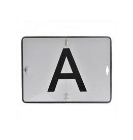 """Markeringsbord aluminium """"A"""""""