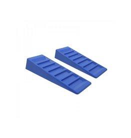 Oprijblok 75mm blauw set van 2 stuks
