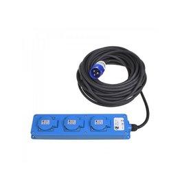 CEE 3-weg stekkerdoos 20M (2xSchuko + 1x2-USB)