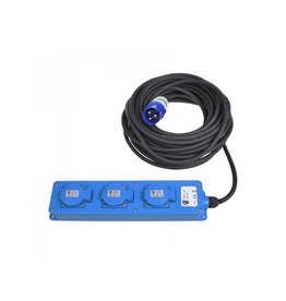 Proplus CEE 3-weg stekkerdoos 20M (2xSchuko + 1x2-USB)