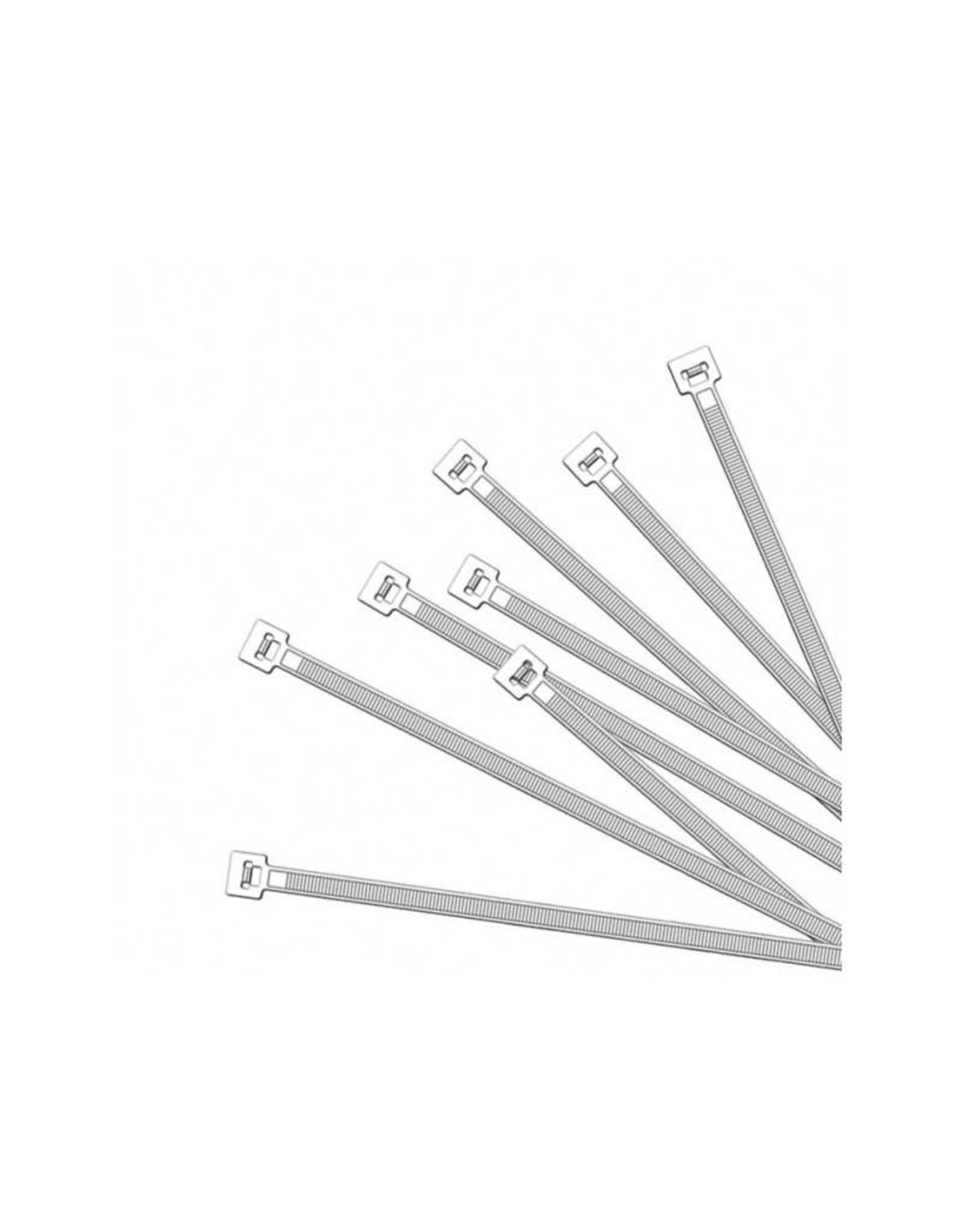Kabelbinders 200x2,5mm 100 stuks wit