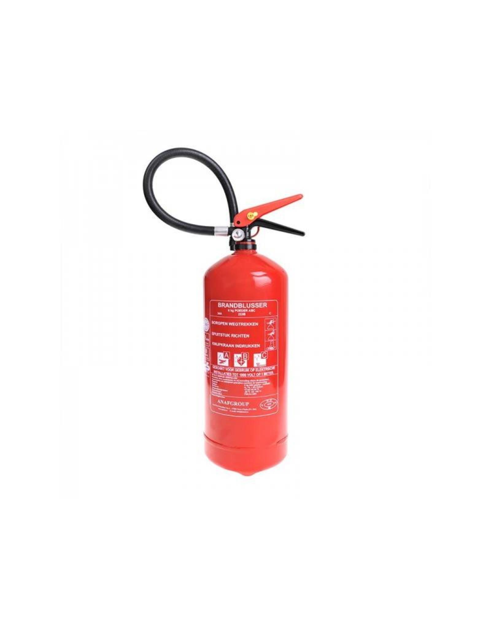 Brandblusser 6kg ABC NL + manometer