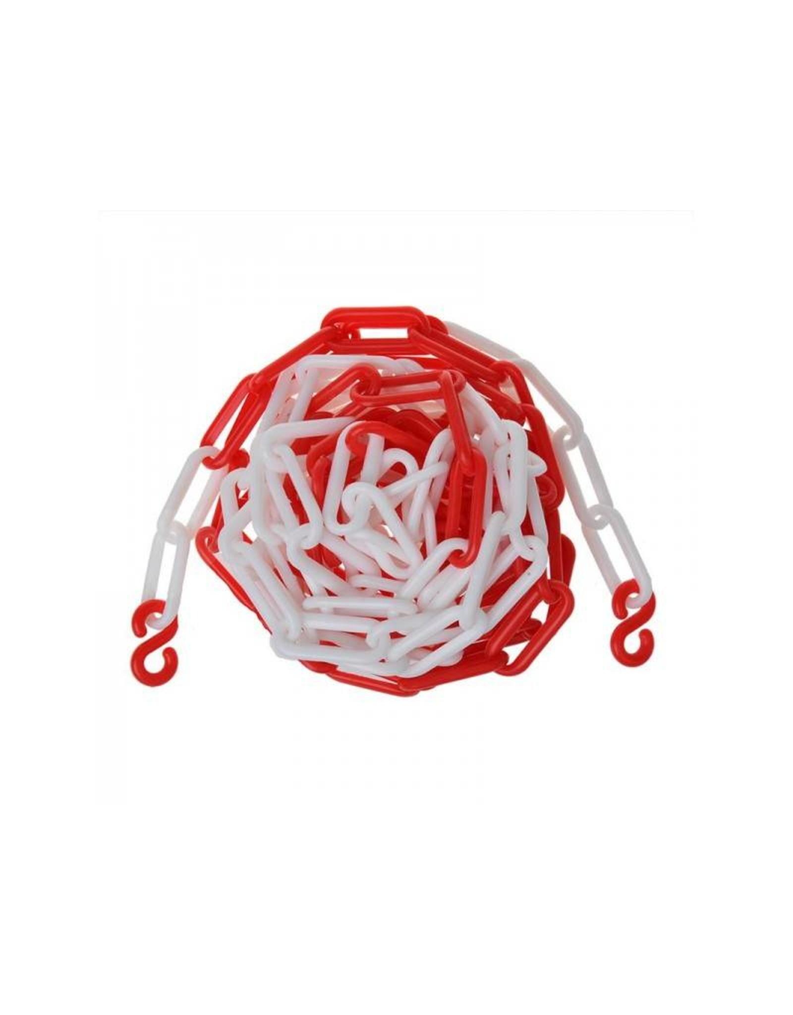 Afzetketting kunststof rood/wit 5M